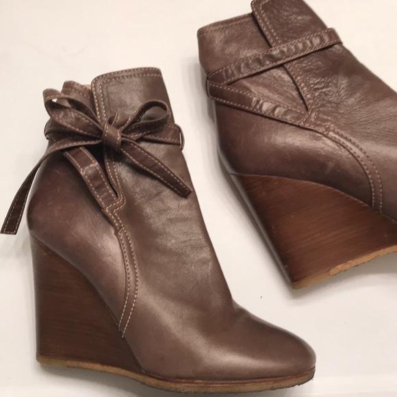 8f15f6ae Chloe Leather Platform Wedge Booties